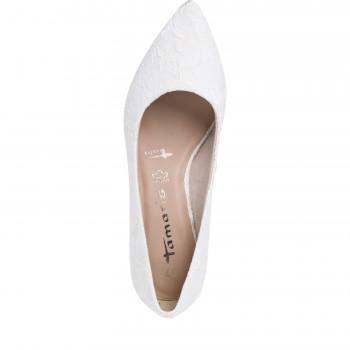 Tamaris cipő Őszi-tavaszi Ivory Macramee