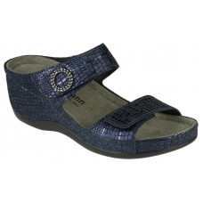 Berkemann papucs Blau metallic