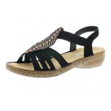 Rieker női cipő Nyári Black